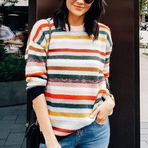 Sweaters - Multicolor striped sweater